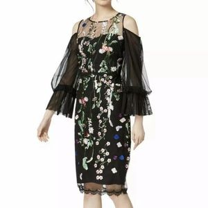 Jax Black Label Embroidered Sheath Dress NWT